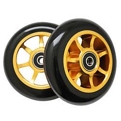 Колеса для трюкового самоката SportVida Alu Abec 9 RS черно-желтый 100 мм PU SV-WO0011 SKL41-249511