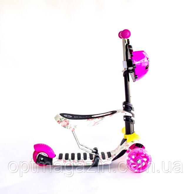 Самокат-беговел 3 в 1 QD ScooTer PP3 pink