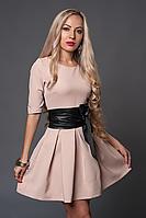 Платье мод 373-4 размер 44,46,48.  бежевое (А.Н.Г.)