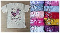 """Подростковая футболка для девочек """"Бабочка""""9-14 лет,цвет уточняйте при заказе"""