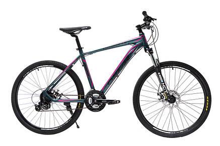 """Велосипед горный Oskar 26"""" 1804 Алюминий Черно-зелёный с амортизацией Хардтейл Велосипед гірський MTB зелений, фото 2"""