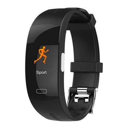 Умный фитнес браслет Blaze Fit P3 Plus с измерением ЭКГ и тонометром (Черный), фото 2