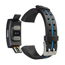 Умный фитнес браслет Blaze Fit P3 Plus с измерением ЭКГ и тонометром (Синий), фото 2