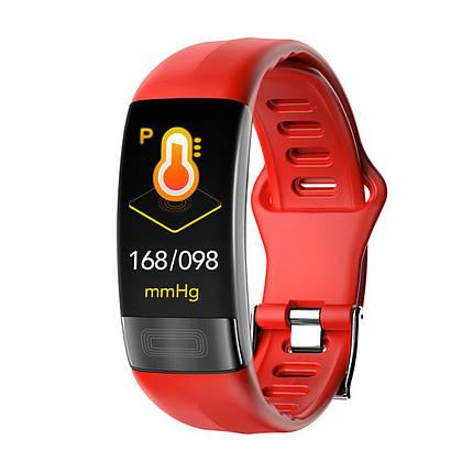Умный фитнес браслет Jiks Fit lite с тонометром и ЭКГ (Красный), фото 2