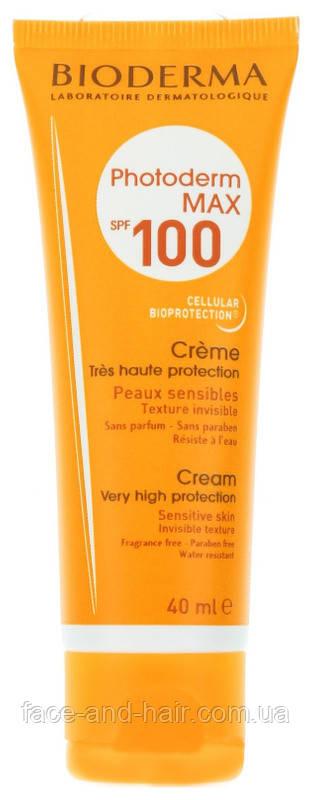 Солнцезащитный крем для лица Bioderma Photoderm Max Spf 100 Sun Cream 40 мл