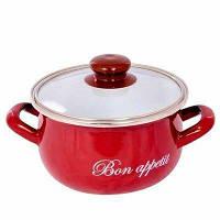 Кастрюля 4,0 л красная Bon appetit Interos 2234-С-20