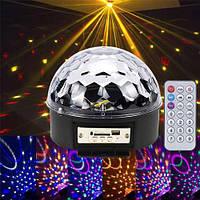 Лазерний проектор, диско куля, світломузика з динаміком USB/SD пультом
