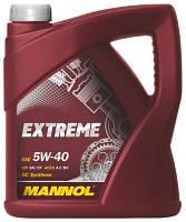 Масло моторне MANNOL Extreme синтетика 5w40 4L SN/CF