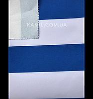 Ткань палаточная Оксфорд 600D PU 215g с пропиткой бело-синяя полоска Oxford