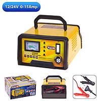 Зарядний пристрій. PULSO BC-12245 12-24V/0-15A/10-190AHR/LED-стрілковий індикатор