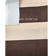 Ткань палаточная Оксфорд 600D PU 215g с пропиткой бежево-коричневая полоска