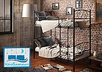 Металлическая двухъярусная кровать Виола 80х190см Тенеро