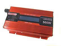 Перетворювач UKC авто інвертор 12В-220В 500W LCD KC-500D