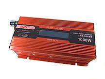 Перетворювач UKC авто інвертор 12В-220В 1000W LCD KC-1000D