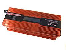 Перетворювач UKC авто інвертор 12В-220В 2000W LCD KC-2000D