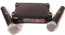 Радіосистема SH SLX4, база, 2 мікрофона