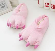 Домашні тапочки кигуруми Лапи Рожевий