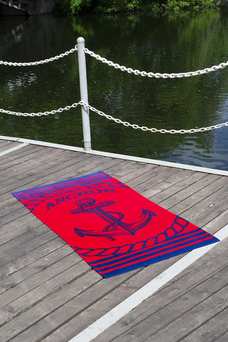Полотенце пляжное велюр 75х150 Anchor Red
