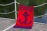 Полотенце пляжное велюр 75х150 Anchor Red, фото 3