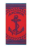 Полотенце пляжное велюр 75х150 Anchor Red, фото 4