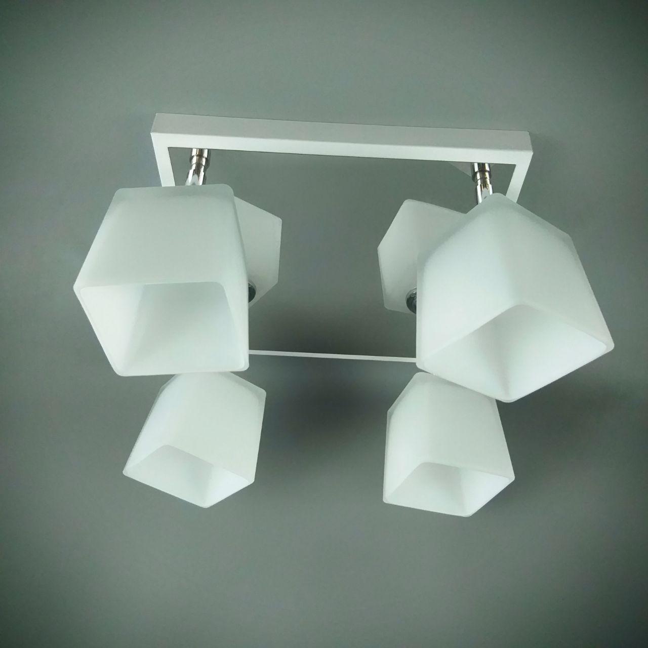 Люстра стельова на 4 лампи 06-51203/4 CR+WT+WT