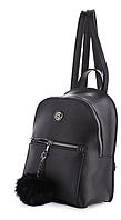 Молодежный рюкзак WeLassie 44404 с пушком, черный