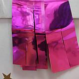 Лєнта фуксія (малиновий) фольга упаковка (30мм/195см/38шт), фото 2