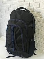 Рюкзак туристический VA T-02-3 65л, черный с синим, фото 1