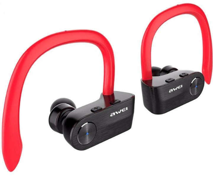 Вакуумні Bluetooth навушники Awei T2, червоні