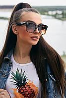 Коричневые квадратные леопардовые солнцезащитные очки (1378.4137 svt)