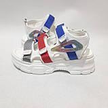 38,39 р. Босоніжки жіночі, літні сандалі на товстій підошві, фото 5