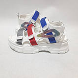 38,39 р. Босоножки женские, сандали летние на толстой подошве, фото 5