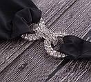 Черный раздельный купальник на завязках со стразами, фото 6