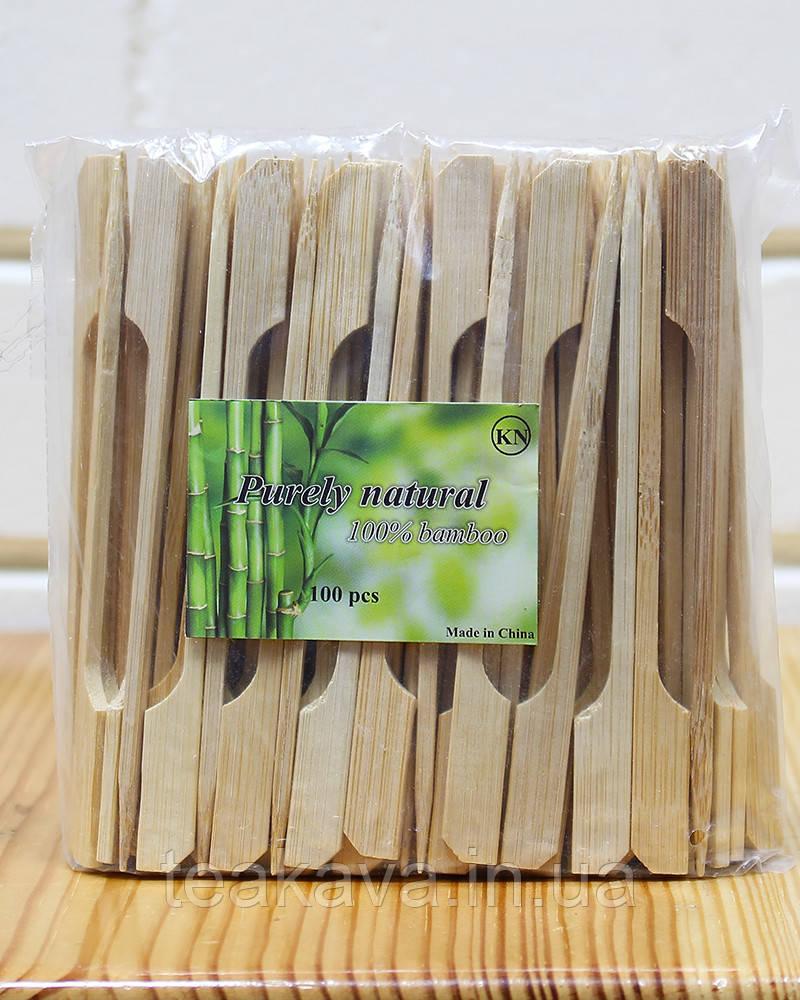 Шпажка бамбуковая весло 12 см, 100 шт