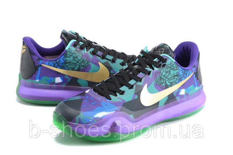 new concept 01c9a c8c97 ... Мужские Баскетбольные кроссовки Nike Kobe 10 (Purple Multicolor), .