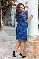 """Женское красивое платье с кружевом """"Пальмира"""" больших размеров, фото 4"""