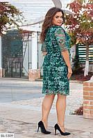 """Женское красивое платье с кружевом """"Пальмира"""" больших размеров, фото 5"""