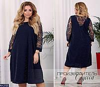 Женское красивое платье с гипюром разных цветов ,больших размеров, фото 2