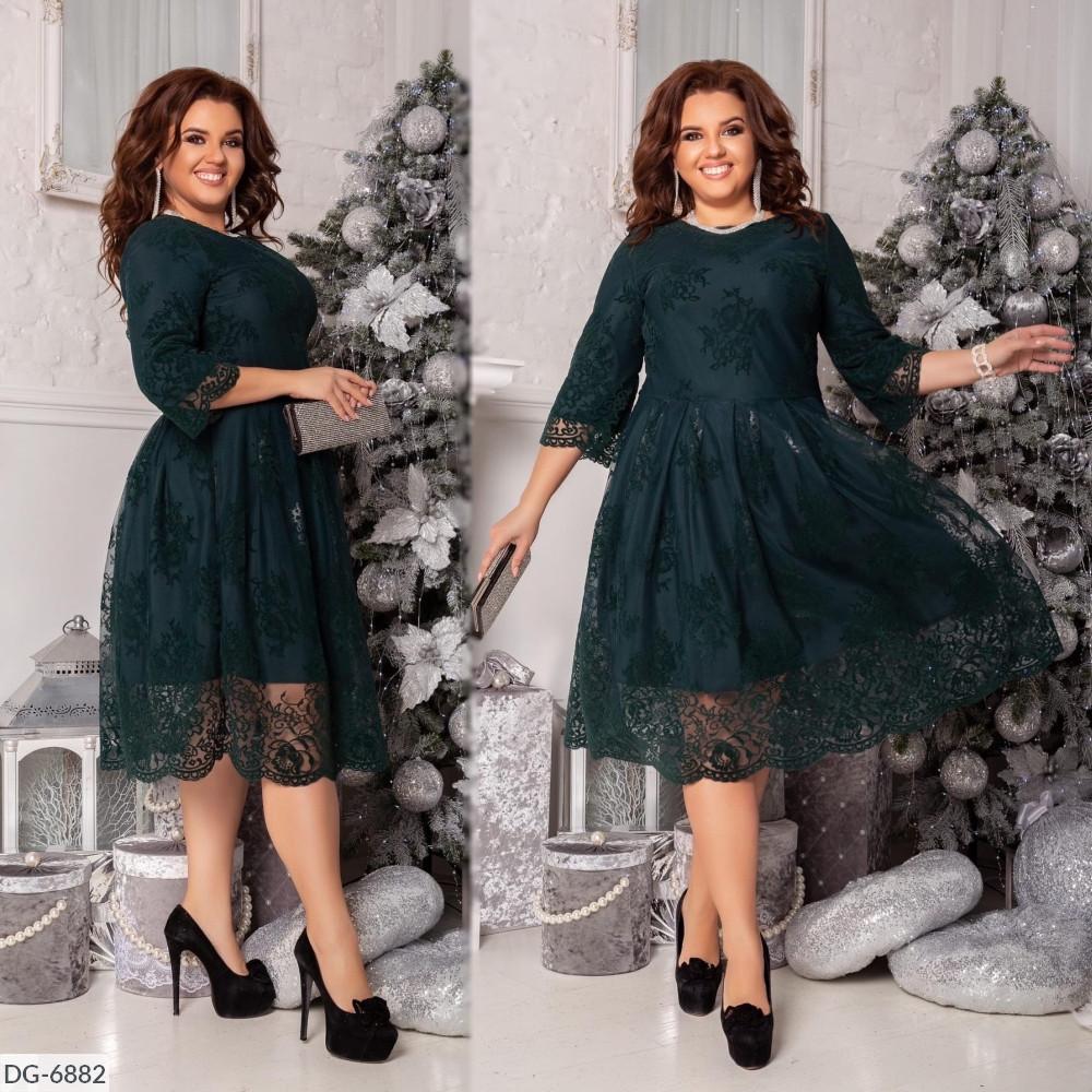 Женское нарядное платье больших размеров