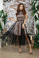 Женское красивое платье с фатином, фото 2