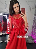Платье миди с кружевом, фото 2