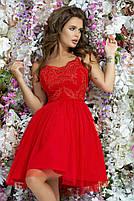 Женское модное платье с фатиновой юбкой, фото 2