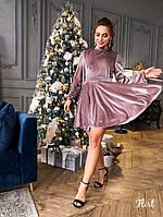 Нарядное платье из бархат с открытой спиной, фото 2