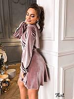 Нарядное платье из бархат с открытой спиной, фото 5