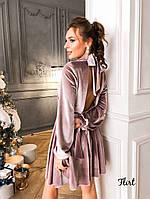 Нарядное платье из бархат с открытой спиной, фото 6