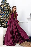 Красивое длинное платье с кружевоом, фото 2