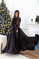 Красивое длинное платье с кружевоом, фото 4