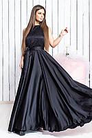 Женское длинное красивое платье с поясом, фото 5