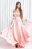 Длинное вечернее платье с кружевом, фото 4
