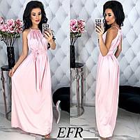 Женское длинное красивое платье с поясом, фото 2